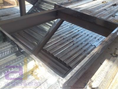 ایجاد بازشو در سقف عرشه فولادی