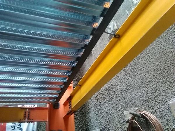 نحوه اجرای دیوار حائل و برشی در سقف عرشه فولادی