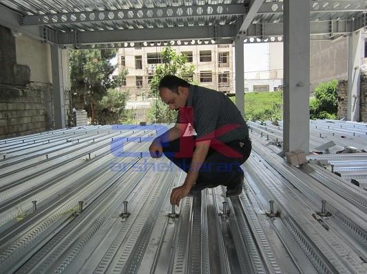سقف عرشه فولادی پنج طبقه مسکونی مهندس خاکپور