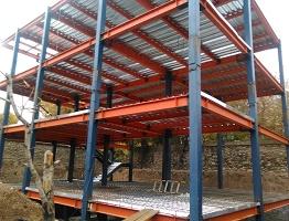 طراحی و اجرای فونداسیون ، اسکلت و عرشه فولادی